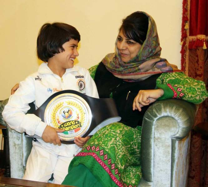 Tajamul Islam With Mehbooba Mufti - Chief Minister Of J & K
